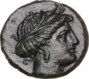 obverse: Southern Lucania, Metapontum. AE 15 mm, 275-250 BC