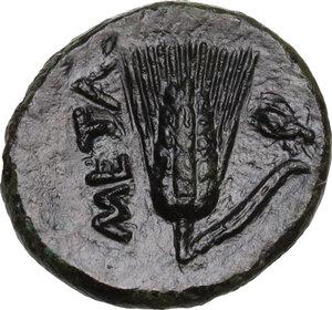 reverse: Southern Lucania, Metapontum. AE 15 mm, 275-250 BC