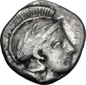 obverse: Southern Lucania, Thurium. AR Triobol, c. 443-400 BC