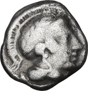 obverse: Southern Lucania, Thurium. AR Diobol, c. 443-400