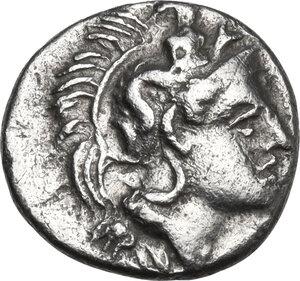 obverse: Southern Lucania, Thurium. AR Triobol, 400-350 BC