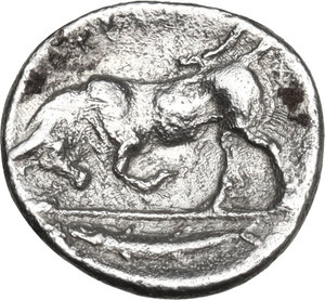 reverse: Southern Lucania, Thurium. AR Triobol, 400-350 BC