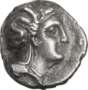 obverse: Southern Lucania, Thurium. AR Obol, 350-300 BC
