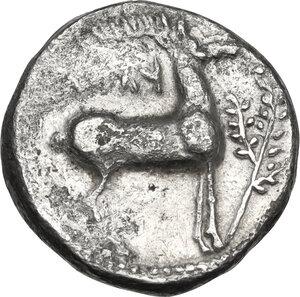 reverse: Bruttium, Kaulonia. AR Stater, c. 475-425 BC