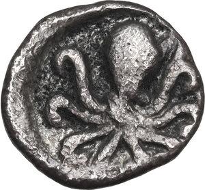 reverse: Bruttium, Kroton. AR Triobol, 525-425 BC