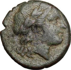 obverse: Bruttium, Rhegion. AE 15 mm, 260-215 BC