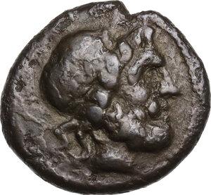 obverse: Bruttium, Rhegion. AE Trichalkon, c. 211-200 BC