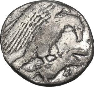 obverse: Akragas. AR Hemidrachm, 410-406 BC