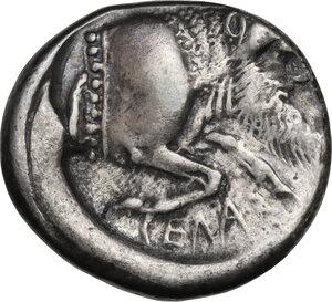 reverse: Gela. AR Didrachm, c. 490/85-480/75 BC