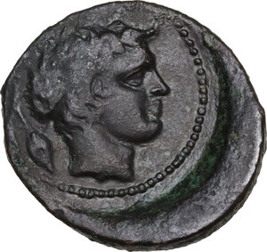 reverse: Gela. AE Tetras or Trionkion, c. 420-405 BC
