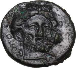 obverse: Gela. AE 14 mm, 4th century BC
