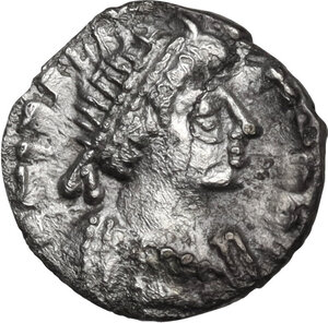 obverse: Ostrogothic Italy, Theoderic (493-526).. AR 1/4 Siliqua, Rome mint, 518-526