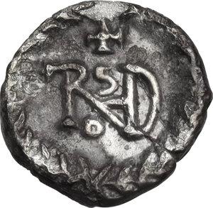 reverse: Ostrogothic Italy, Theoderic (493-526).. AR 1/4 Siliqua, Rome mint, 518-526