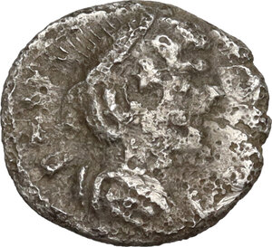 obverse: Ostrogothic Italy. Athalaric (526-534).. AR Quarter Siliqua in the name of Justinian I, Ravenna mint. 235