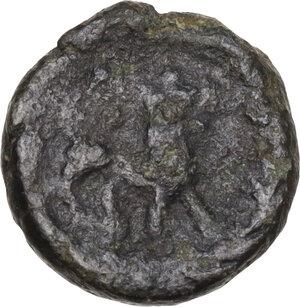 reverse: Ostrogothic Italy, Baduila (541-552).. AE Nummus (or 2 1/2 Nummi). Pseudo-Imperial Coinage. In the name of Anastasius, 549/550-552. Rome mint