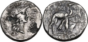obverse: The Roman Republic. Multiple lot of two (2) Denarii, one fuorrée