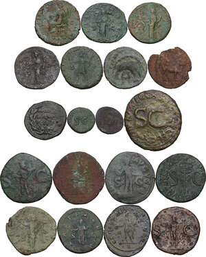 reverse: The Roman Empire.. Multiple lot of nineteen (19) unclassified AE coins