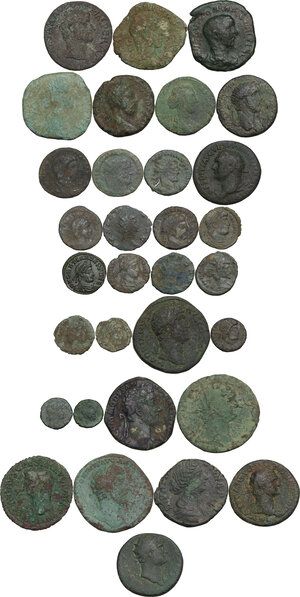obverse: The Roman Empire.. Multiple lot of thirty-two (32) unclassified AE coins