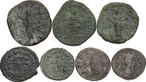 reverse: The Roman Empire.. Multiple lot of seven (7) AE denominations, including: Gordian III, Trebonianus Gallus, Philip II, Numerian, Constantius II, Salonina and Tacitus
