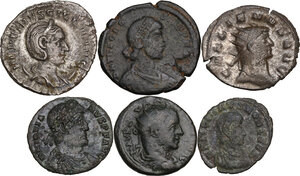 obverse: The Roman Empire.. Multiple lot of six (6) unclassified BI/AE coins