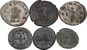 reverse: The Roman Empire.. Multiple lot of six (6) unclassified BI/AE coins