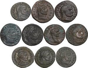 obverse: The Roman Empire.. Multiple lot of ten (10) unclassified AE Follis
