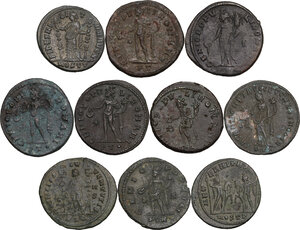 reverse: The Roman Empire.. Multiple lot of ten (10) unclassified AE Follis