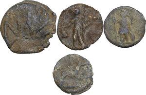 obverse: The Roman Empire.. Multiple lot of four (4) unclassified PB Tesserae