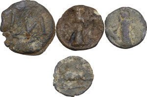 reverse: The Roman Empire.. Multiple lot of four (4) unclassified PB Tesserae