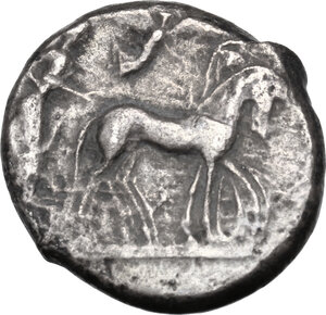 obverse: Syracuse.  Hieron I (478-466 BC).. AR Tetradrachm, struck circa 475-470 BC