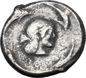 reverse: Syracuse.  Hieron I (478-466 BC).. AR Tetradrachm, struck circa 475-470 BC