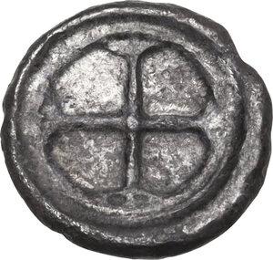 reverse: Syracuse.  Deynomenid Tyranny (485-466 BC).. AR Litra, 475-470 BC