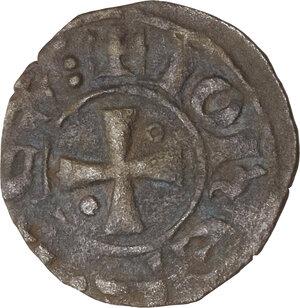 obverse: Crusader coins, Latin Kingdom of Jerusalem, John of Brienne (1210-1225) . BI Denier,  Damietta mint, Struck 1219-1221
