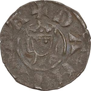 reverse: Crusader coins, Latin Kingdom of Jerusalem, John of Brienne (1210-1225) . BI Denier,  Damietta mint, Struck 1219-1221