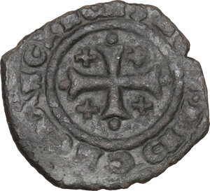 Italy .  Carlo I d Angiò (1266 -1282). BI Denaro, Brindisi mint