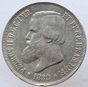 obverse: Brasile.Pedro II. 1831-1889.2000 reis 1888.Ag.