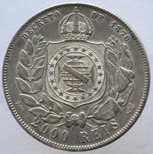 reverse: Brasile.Pedro II. 1831-1889.2000 reis 1888.Ag.