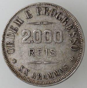 reverse: Brasile. Repubblica. 2000 Reis 1907. Ag.