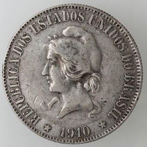 obverse: Brasile. Repubblica. 2000 Reis 1910. Ag.