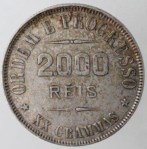 reverse: Brasile. Repubblica. 2000 Reis 1911. Ag.