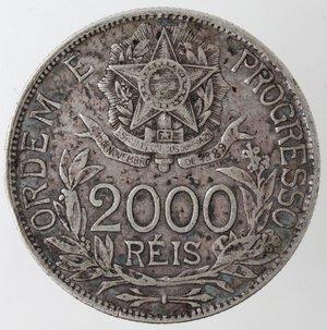reverse: Brasile. Repubblica. 2000 Reis 1912. Ag.