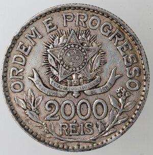 reverse: Brasile. Repubblica. 2000 Reis 1913. Ag.