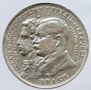 obverse: Brasile. Repubblica. 2000 Reis 1922. Ag.