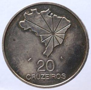 reverse: Brasile. Repubblica. 20 Cruzeiros 1972. Ag.