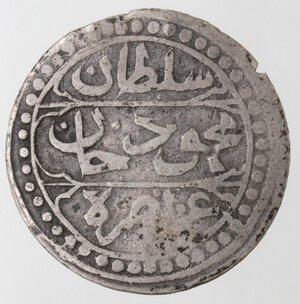obverse: Algeria. Mahmud II. 1808-1839. 1/4 Budju 1828. Ag.