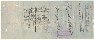 reverse: Banconote. Banca Commerciale Italiana. Assegno 100.000 Lire 1943. BB+. Strappi e pieghe. Elevatissimo importo per l epoca.