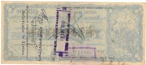 reverse: Banconote. Banca nazionale dell Agricoltura. Assegno taglio fisso. 1.000 Lire 1945. BB. Sovrastampato. Circolato come cartamoneta.