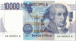 obverse: Banconote. Repubblica Italiana. 10.000 Lire Alessandro Volta tripla A. Dec. Min. 03-09.1984.