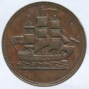 obverse: Canada. Mezzo Penny 1835. Ae.