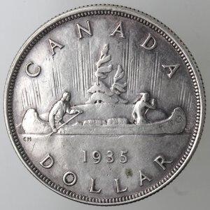 reverse: Canada. George V. 1910-1936.Dollaro 1935. Ag 800.